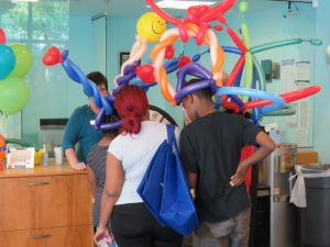 Balloon hats from Peak Performers temporary staffing associates at appreciation event