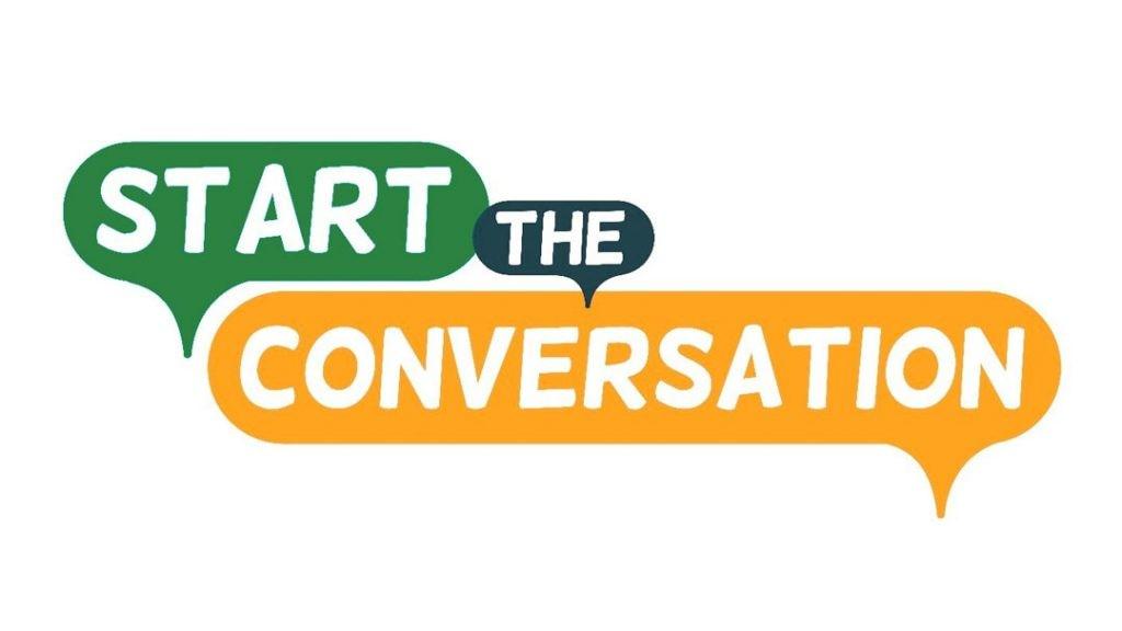 Start the conversation graphic