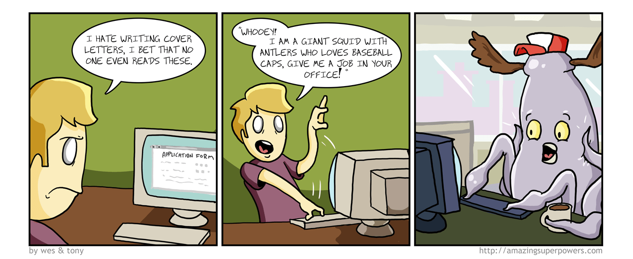 Cover Letter Comic